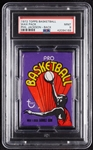 1972 Topps Basketball Wax Pack - Phil Jackson RC Back (Graded PSA 9)