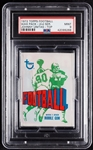 1972 Topps Football Wax Pack - Johnny Unitas Back (Graded PSA 9)