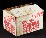 1986-87 Fleer Basketball Wax Box Empty Case with Boxes & Wrappers