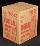 1985 Topps Football Rack Box Case (3/24)