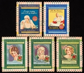 1930s Lucky Strike Society Miss and Society Matrons Bridge Cards (5)