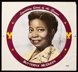 "Butterfly McQueen Signed ""Legendary Stars of the Cinema"" Promotional Piece (PSA/DNA)"