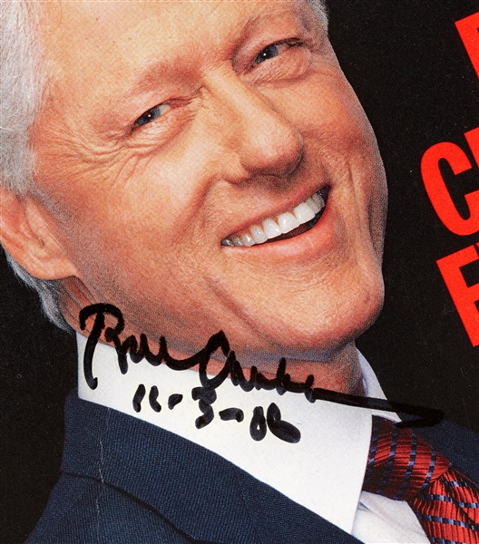 Bill Clinton & Hillary Clinton Signed TIME Magazines (2) (BAS)