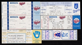 1985-96 Near-Mint 3,000-Hit Club Tickets Group and Program (8)