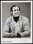 Andy Kaufman Signed 8x10 Publicity Photo (BAS)