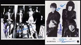 Ramones Group-Signed Photo Pair (2)