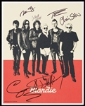 Blondie Group-Signed 8x10 Photo (BAS)