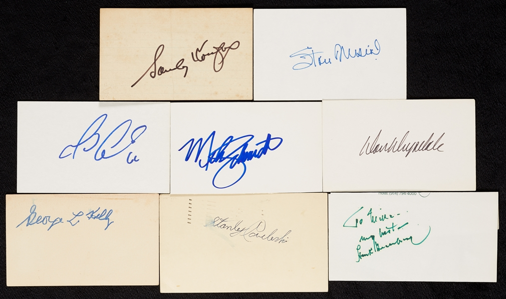 Signed Index Cards, Cuts, Etc. Group (270)