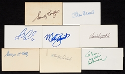 Signed Index Cards, Cuts, Etc. Group (250)