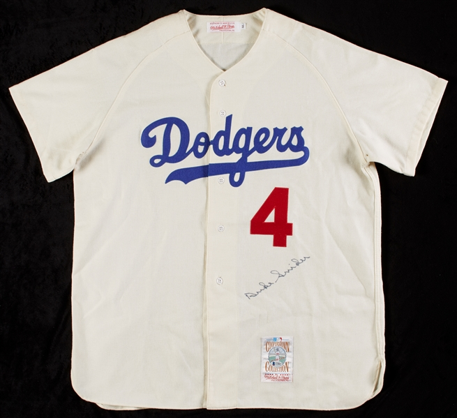 Duke Snider Signed Dodgers Flannel Jersey (BAS)