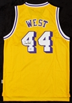 Jerry West Signed Lakers Jersey (BAS)