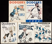 1950s Brooklyn Dodgers Yearbook Collection (5)