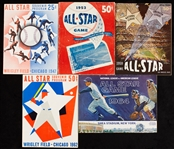 1947-64 All-Star Game Program Collection (5)