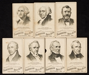 1880 Dambmann Bros. & Co. Trade Cards of Presidents (7)