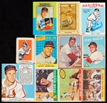 1950s-60s Topps Stan Musial Group, Plus Red Man, Three Are Signed (11)