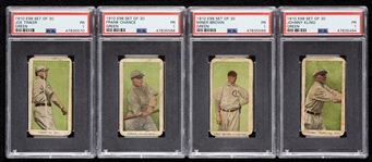1910 E98 Set of 30 Chicago Cubs PSA 1 Group with Tinker, Chance, Brown (4)