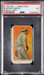 1909 E90-1 American Caramel George Gibson Back View PSA 1