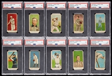 1909 E90-1 American Caramel PSA-Graded Group with Bender, Brown, Jennings, Marquard (10)