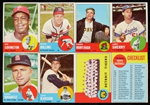 1963 Topps Baseball Group With Mantle, Many High Grade (343)