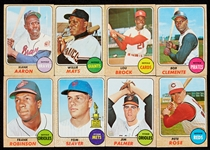 1968 Topps Baseball Partial Set With 31 HOFers (464/598)