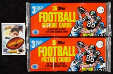 1982 Topps Football Grocery (2) and Cello Pack Group (3)