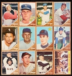 1962 Topps Baseball Partial Set With Two Dozen HOFers (569)