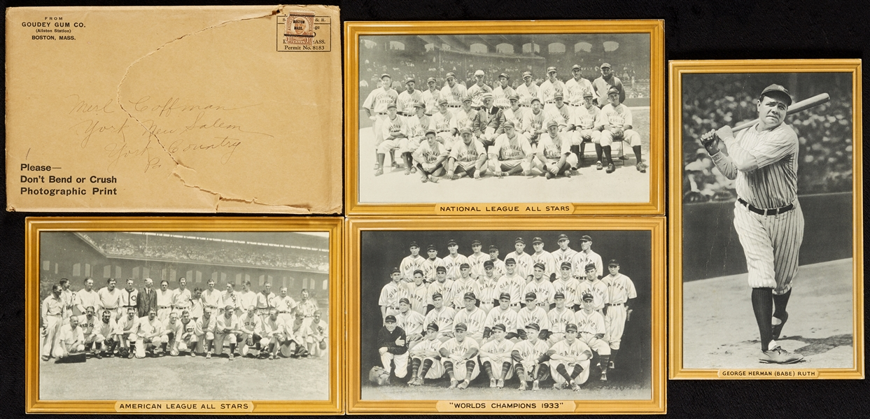 1933-34 Goudey Premiums Complete Set with Babe Ruth (4)