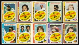 1978 Topps Football Cello Packs Group with Staubach on Top (10)