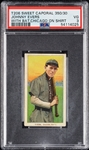 1909-11 T206 Johnny Evers With Bat, Chicago on Shirt PSA 3