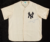 "Mickey Mantle Signed Yankees Flannel Jersey Inscribed ""No. 7"" (BAS)"