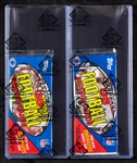1984 Topps Football Grocery Rack Packs Pair with Marino & Montana Showing (2) (BBCE)
