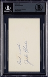 Jackie Robinson Signed 3x5 Index Card (BAS)