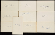 Hank Aaron Signed 3x5 Index Cards Group (10)