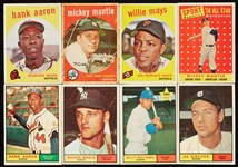 Large Group 1952-61 Topps Baseball With 103 HOFers (487)