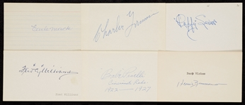 1910-1919 Signed Index Card Collection (540)
