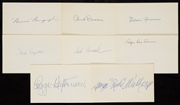 1920-1929 Signed Index Card Collection (725)