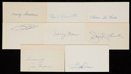 1930-1939 Signed Index Card Collection (910)