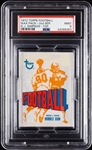 1972 Topps Football Wax Pack - O.J. Simpson Top (Graded PSA 9)