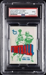 1972 Topps Football Wax Pack - Roger Staubach Back (Graded PSA 9)
