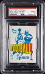 1972 Topps Football Wax Pack - Super Bowl Back (Graded PSA 9)