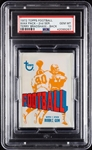 1972 Topps Football Wax Pack - Terry Bradshaw Back (Graded PSA 10)