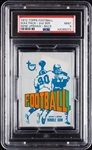 1972 Topps Football Wax Pack - Gene Upshaw Back (Graded PSA 9)