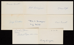 1892-1909 Signed Index Card Collection (105)