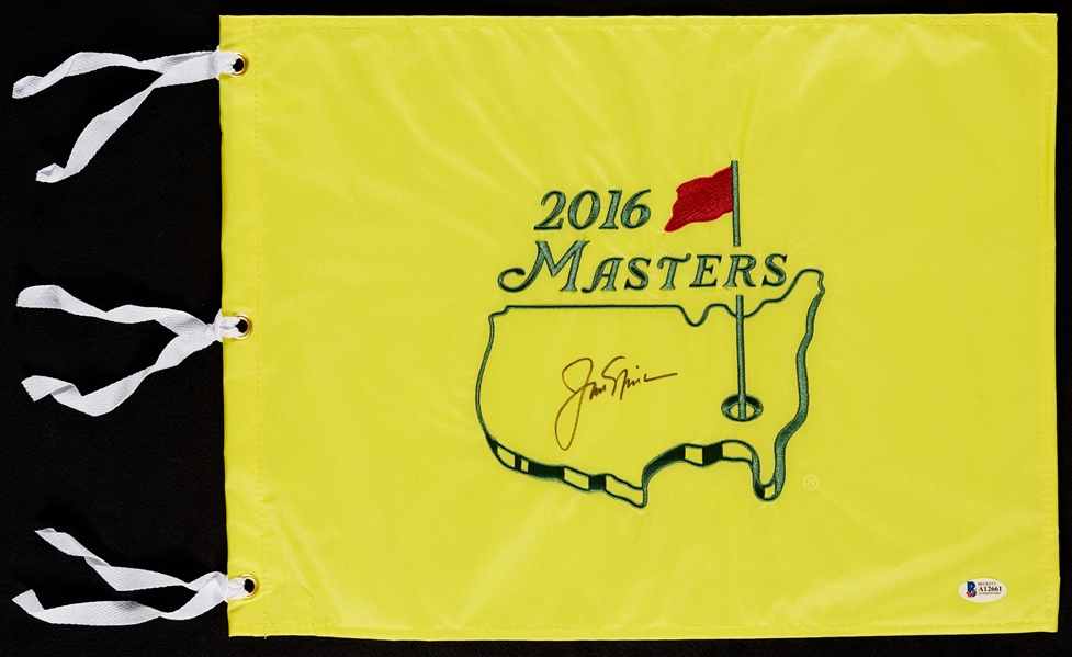 Jack Nicklaus Signed 2016 Masters Flag (BAS)