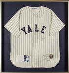 George Bush Signed Yale Flannel Jersey (13/89) (BAS)