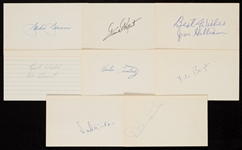1950-1959 Signed Index Card Collection (740)