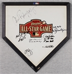 2004 All-Star Game Home Plate Signed by Derek Jeter, Mariano Rivera, David Ortiz, 4 Others (Steiner)