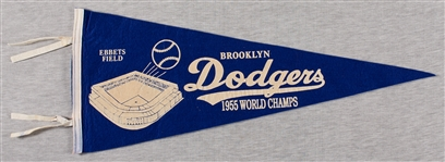 1955 Brooklyn Dodgers World Champs Pennant