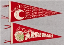 1947 St. Louis Cardinals Roster-Style Pennants (2)